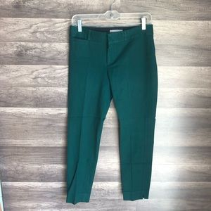 Banana Republic Green Sloan Cropped Ankle Sz2